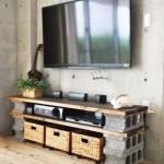 Un mobile tv di mattoni
