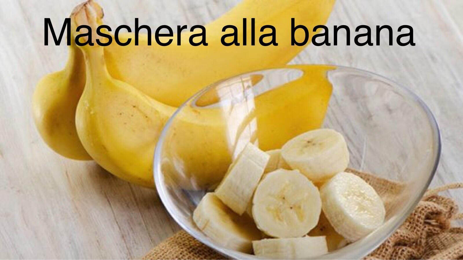 Maschera viso alla banana