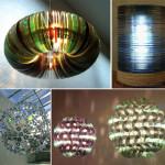 Lampadari di design da vecchi Cd